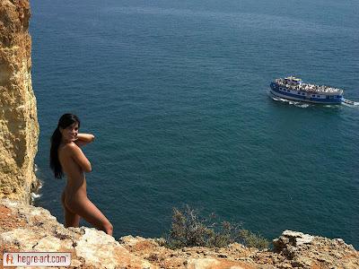 Nella girl nude on cliffs