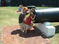 Big Canons at Fort Sumter Charleston