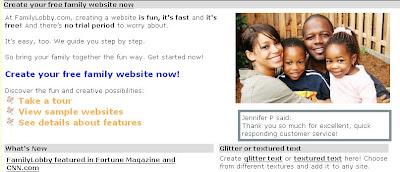 Free Baby Website FamilyLobby.Com