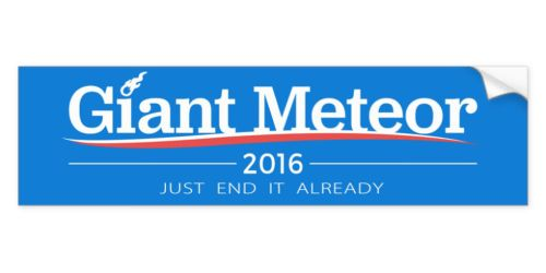 Nihilistic Bumper Sticker for 2016: