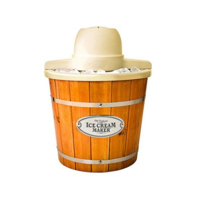 ice cream maker nostalgia wood grain