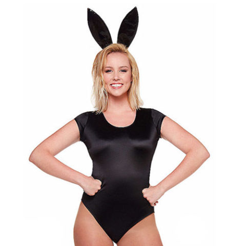 $18 BUY NOW  Calling all dangerous women. Grab some bunny ears and black pumps to complete Ariana Grande's look.