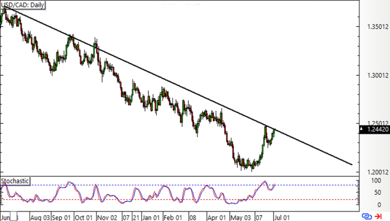 USD/CAD Daily Forex Chart