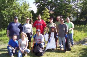 All these volunteers were at only one of the many clean-up sites.