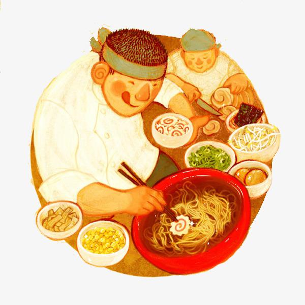 卡通面條美食素材圖片免費下載_高清卡通手繪png_千庫網(圖片編號7018616)