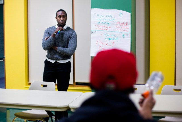 The rapper from American Orphans, Raw black, attends his last month of probation program in Roxbury, Boston. With one month left with his probation, 21 year-old Raw Black is hoping that music can bring him away from his troubled past.