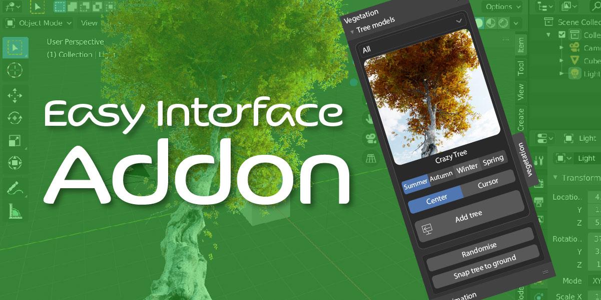 addon interface blender