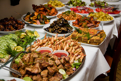 Your Food Budget For The Wedding Reception…