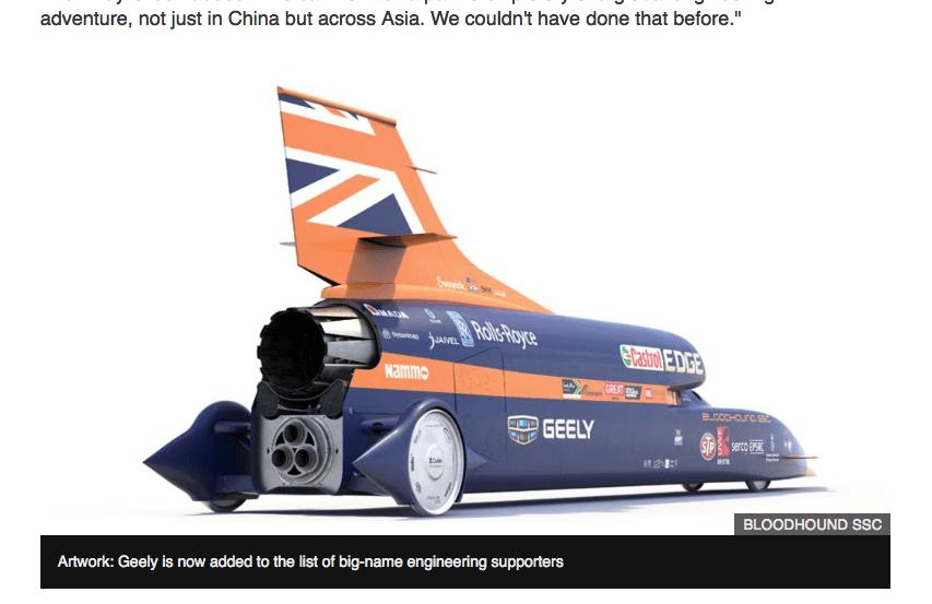 世界最高速度で走る車