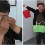 涙袋で重量挙げ!?中国の達人の破天荒パフォーマンスが痛い!!!