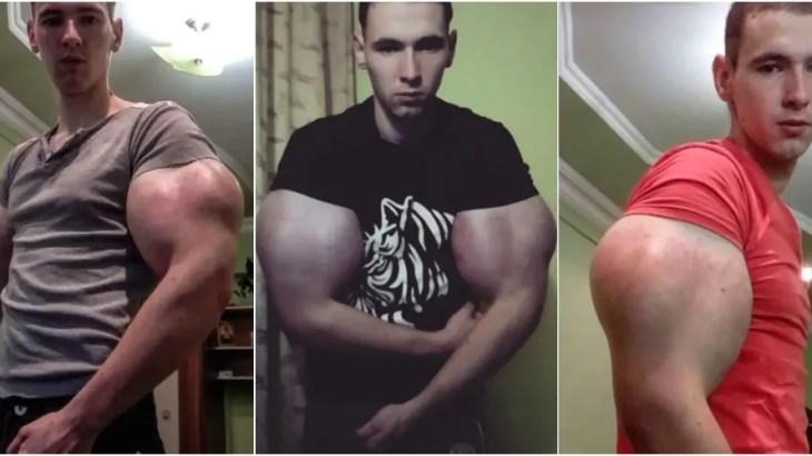おそロシア…禁断の裏技でガチムチのポパイ筋肉を手に入れた青年