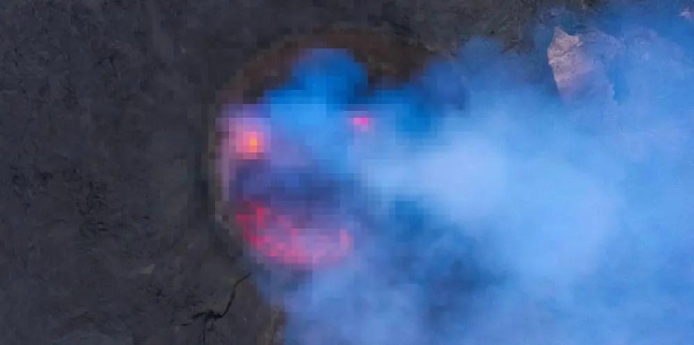 エチオピアの火山に暗殺教室の殺せんせー