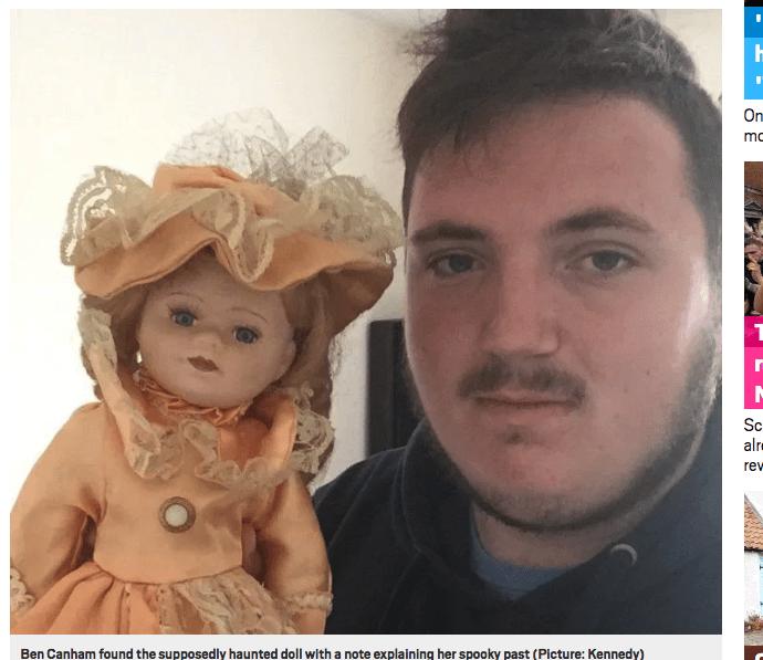 恋人の幽霊が宿る呪いの人形