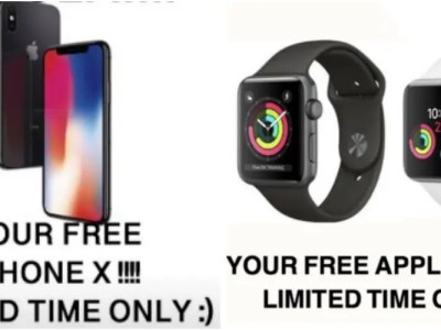 iPhoneX無料プレゼント詐欺