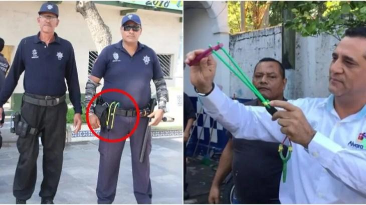 ウソップかよ!メキシコ警察がパチンコを武器にマフィアから治安守る