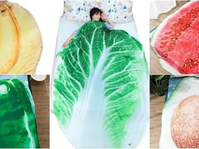 超リアルな野菜とフルーツの掛け布団