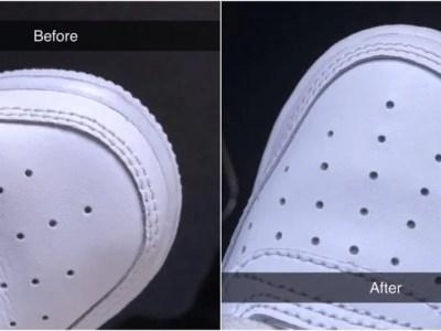 スニーカーのシワを取る超簡単な方法