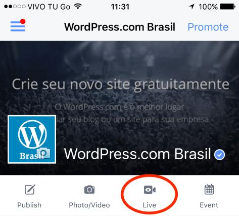 Facebook - Live 1
