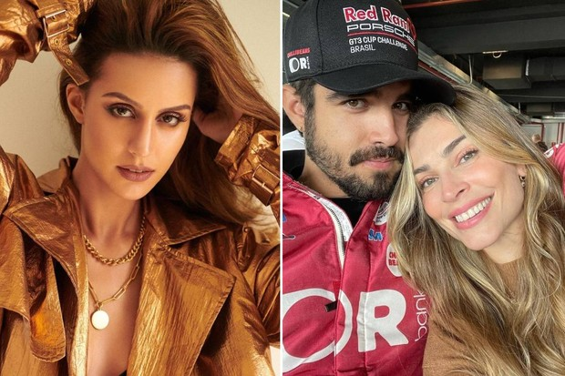 Brazilian actress and model Larissa Bonesi, 31, denied being the pivot of the separation between Caio Castro and Grazi Massafera.  In an interview with columnist Léo Dias, who reported that she would be involved with the actor, the star of Indian films on the Netflix platform, denied the information.  (Photos: Publicity and Instagram)
