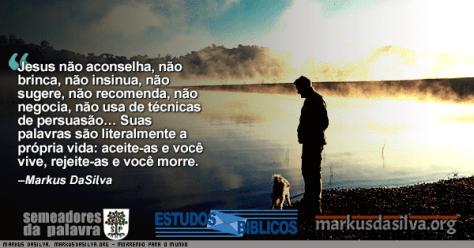 Homem com cachorro perto de um lagocom texto sobre o artigo: Morrendo Para o Mundo - Por Markus DaSilva - Mateus 10:30