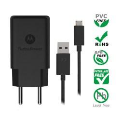 Motorola TurboPower 15+ Wall Charger + Micro-USB Data Cable