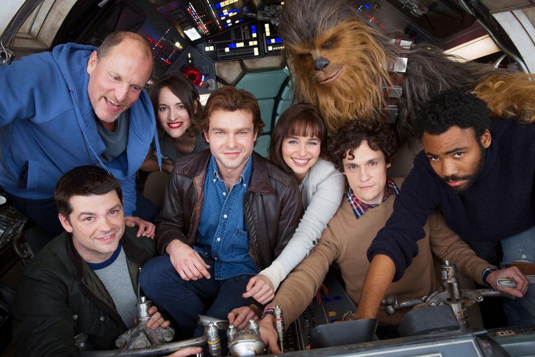 Solo: Uma História Star Wars : Foto Alden Ehrenreich, Christopher Miller, Donald Glover, Emilia Clarke, Joonas Suotamo