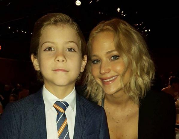 Jacob Tremblay e Jennifer Lawrence