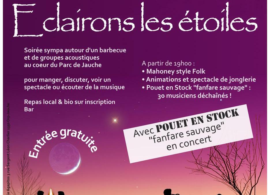 Eclairons les étoiles : Concerts et repas sans électricité dans le parc de Jauche