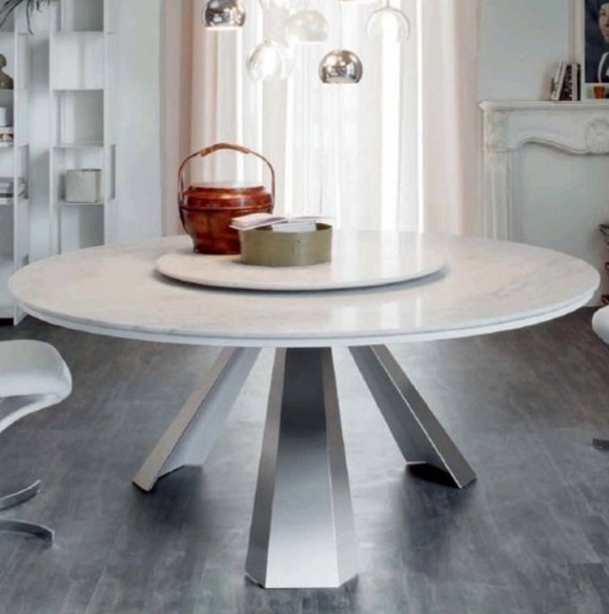 3ef965e1f820 Top 5 White Marble Round Dining Table
