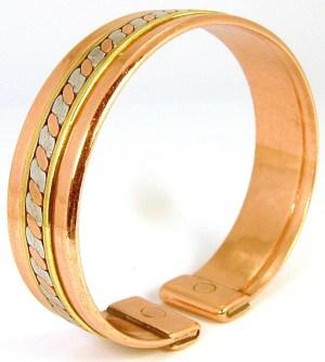 Bracelet Cuivre magnétique avec 2 aimants