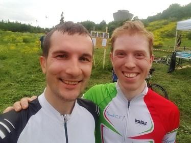 Målgångsbild med Cykel-Andreas som kom tvåa idag.