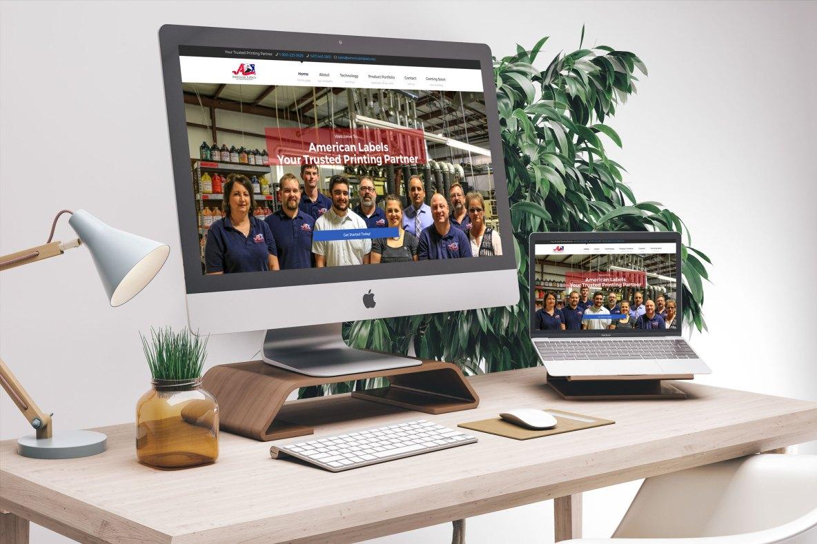 Printing Business Website Mockup Example