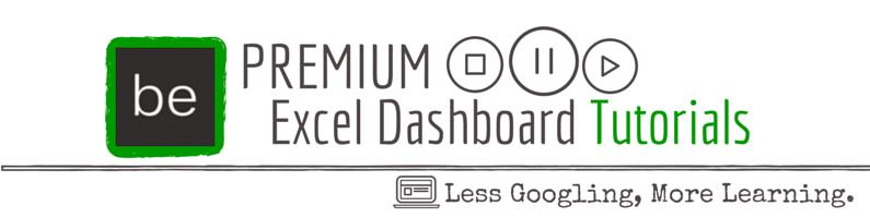 Premium Excel Dashboard Tutorials