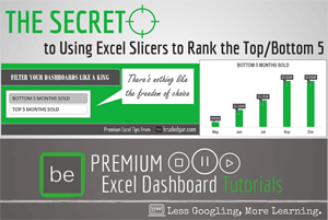 Using Excel Slicers to Rank The Top/Bottom 5