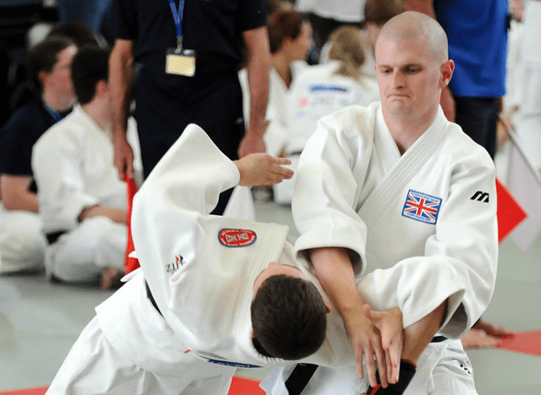 >Phil and Matt: Demonstrating the Randori-no-kata in 2011 at the 9th International Aikido Tournament