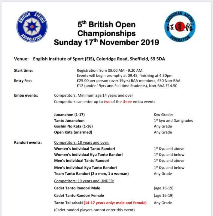2019 BAA Open November