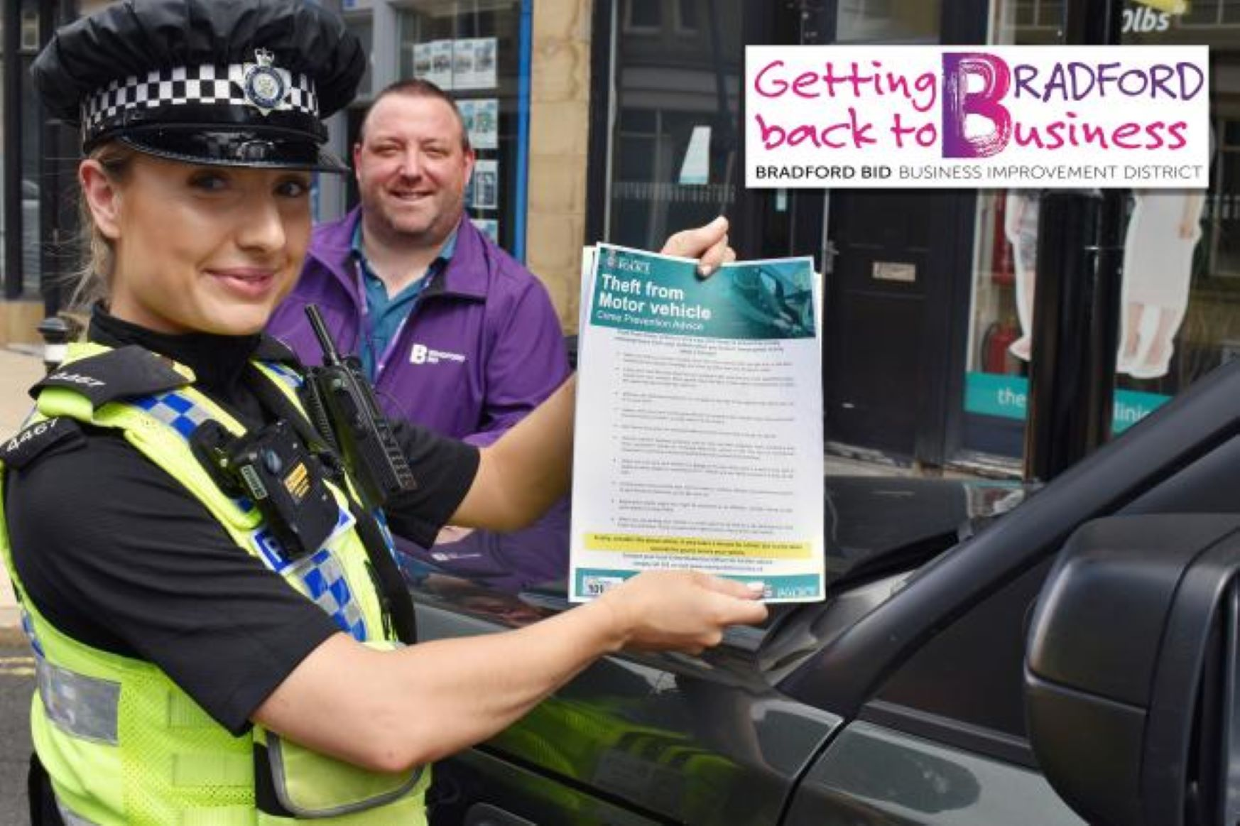 New drive to cut 'smash and grab' thefts from cars in Bradford city centre