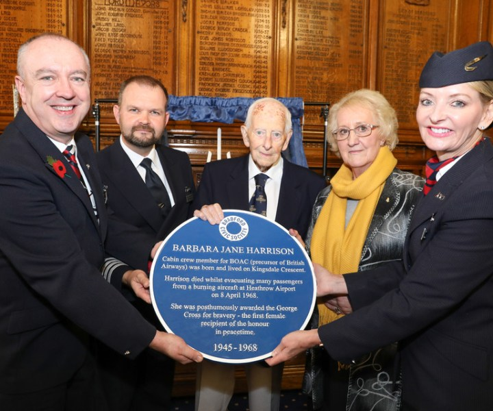 Sean Carolan - BA Ambassador, capt Mark Mannering-Smith - BA Head of Aviation safety, Former Capt Robert sample - Passenger on the aircraft, Sue Buck - Barbara's Sister and Ruth Atkins - BA Ambassador