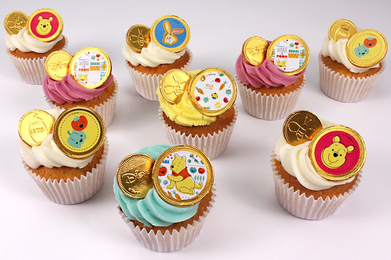 Chocolate Coin Cupcakes
