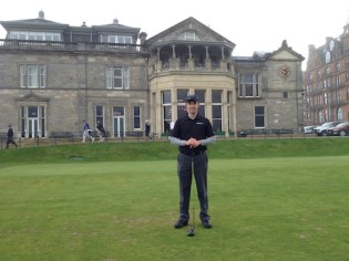 1st Tee Box St. Andrews Old Course