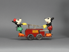 Vintage Mickey Mouse Lionel tin toy