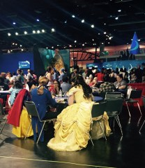 Expo costumed fans at lunch 2015