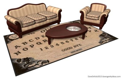Ouija Board Parlor Room - Now the whole family can partake together in communing with both the dead and the diabolical!