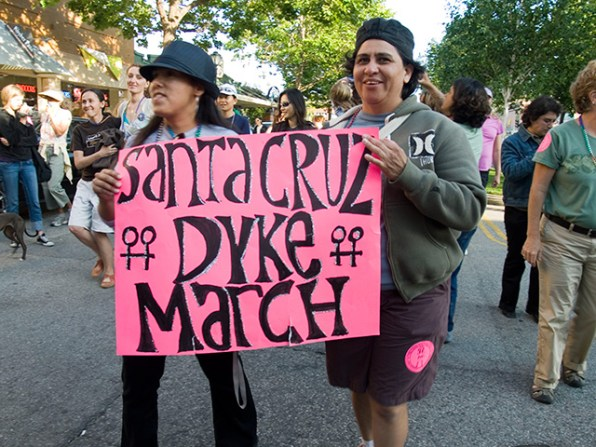 Dykes Rally and March in Santa Cruz