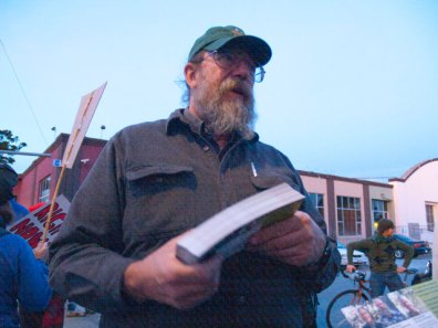 """Dennis Davie is the Forestry Committee Chair for the Santa Cruz Group of the Sierra Club. He is also a Fisheries and Endangered Species Expert, Electric Vehicle Mechanic, and Newscaster at Free Radio Santa Cruz. """"I've been actively fighting for biodiversity since 1986."""" -Dennis Davie"""