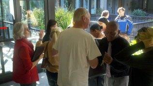 Santa Cruz Eleven Supporter Steve Pleich Embraces Franklin Alcantara