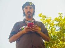 Sandino Gomez of the Watsonville Brown Berets