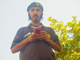 Sandino Gomez of the Watsonville Brown Berets