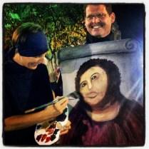 Jesus Fresco Restoration