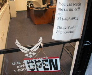 the air force office remained open for business